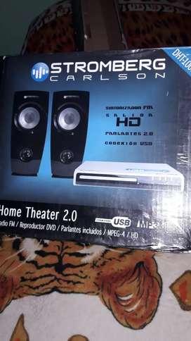 Vendo home theater 2.0 usb mp3 radio nuevo c/ctrol