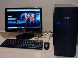 PC de escritorio completa con monitor