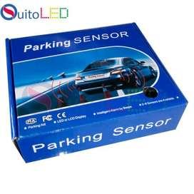 Sensor Retro Parqueo Universal / 2 Colores Negro y Silver QUITOLED