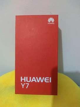Vendo Huawei Y7 como nuevo con factura y accesorios