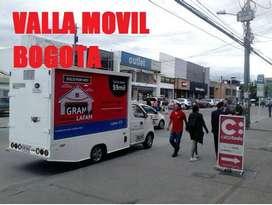 Carro Valla por todos las localidades de Bogota