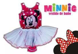 Hermoso Traje De Baño Personalizado Minnie