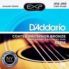 CUERDAS ENCORDADO BRONCE ACUSTICO DADDARIO EXP16 012, 053