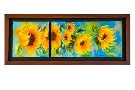 Obra de arte  108cms x 36 cms. Oleo sobre lienzo