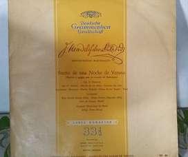 SUEÑO DE UNA NOCHE DE VERANO   MENDELSSOHN  BARTHOLDY DEUTSCHE GRAMMOPHON GESELLCHAFT LONG PLAY   VINILO