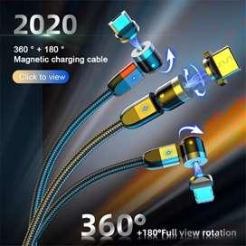 Cable magnético 3 en 1 carga y datos rotación 540 Grados Actualizado