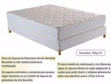 Fabrica Sommiers Espuma Alta Dens 30kg Tela Jackard colchones 0