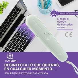 Desinfectante Portátil de Luz UltraVioleta, Esterilizador de Virus y Bacterias de Luz UV, Germicida Portatil de Luz UVC