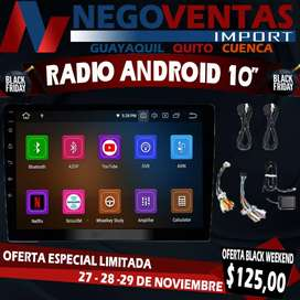 """RADIO ANDROID DE 10"""" MEGA PROMOCIÓN EXCLUSIVA ÚNICAMENTE DE NEGOVENTAS POR TIEMPO LIMITADO APROVECHA Y LLEVA EL TUYO"""