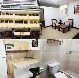 Se vende suite amoblada en condominio chimborazo