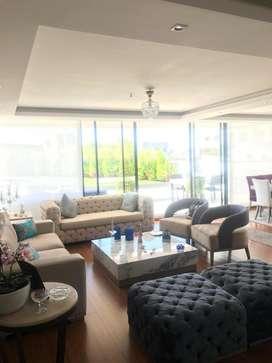 Venta Departamento Penthouse De Lujo en Quito Tenis: Terraza 360 Amplia /Gimnasio/ Jardines