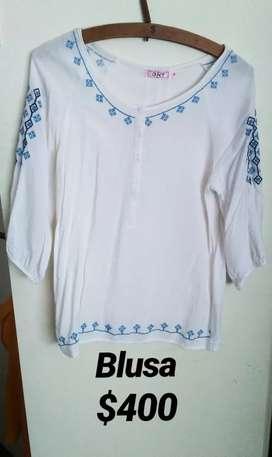 Vendo blusa bordada