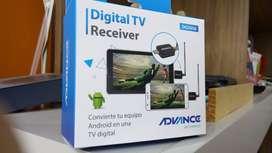 RECEPTOR DE TV DIGITAL ADVANCE DG505, TV ISDB-T, PARA DISPOSITIVOS ANDROID, USB OTG.