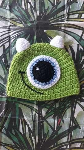 Gorro a crochet para bebes