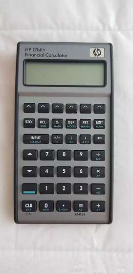 Vendo calculadora financiera hp 17bII+