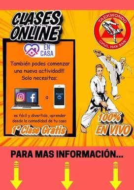Clases de taekwondo CHUL HAK SAN OnLine en vivo