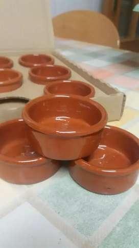 Hollas y vajilla artesanal en arcilla o barro