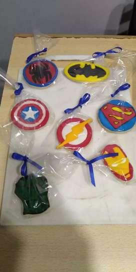 Cookies decoradas superhéroes