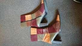 Botas caña corta multicolor buen estado numero 38