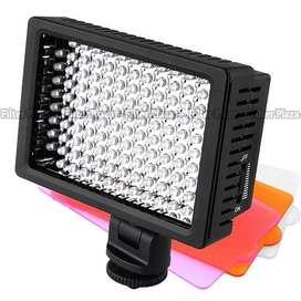 Luz Led 160 con Batería y Cargador para Video Cámaras y Filmadores