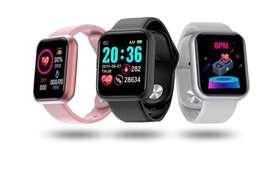 SMARTWATCH Reloj Interigente Impermeable rastreador de ejercicios monitor Fitness, reduce tu peso, notifica Whatsapp