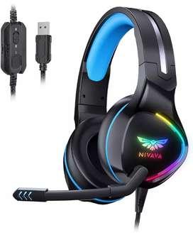 Audífonos gamer Nivava K12 USB rgb $200.000