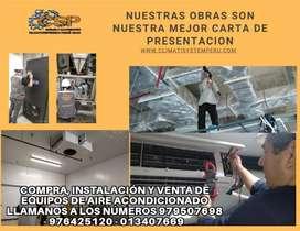 Compra, venta, reparación e instalación de equipos de aire acondicionado