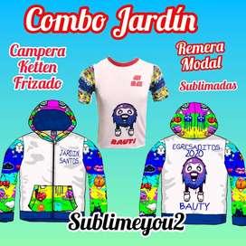 CAMPERA + REMERA PARA JARDIN 2020