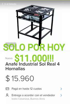 ANAFE INDUSTRIAL SOL REAL 4 HORNALLAS