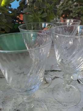 Seis copas licor vintage facetadas licor