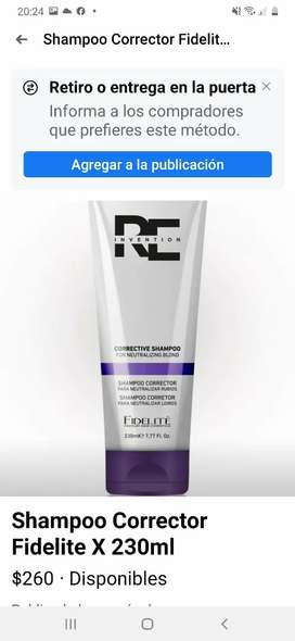 Shampoo corrector fidelite 230 ml