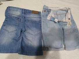 Bermudas de jeans usadas de niño