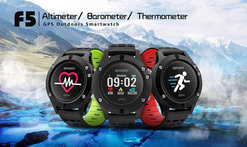 Reloj Inteligente SmartWatch NO1 F5 GPS Termómetro Altímetro Barómetro 0