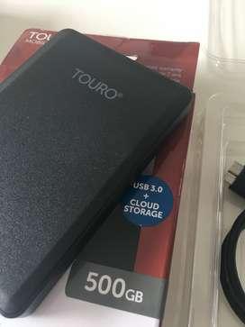 Disco externo Touro 500GB usado