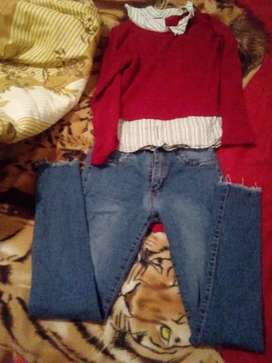Vendo jeans talle 36 +pulovercito talle 1 $500 ambos impecable