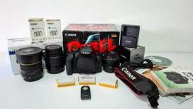 Kit: Canon T4i + 3 Lentes + 2 Baterías + Control