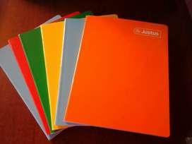 Vendo cuadernos Justus x6 A4 cuadriculados