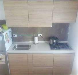 Cocina Integral Valenza 1.80 Metros Con Estufa A Gas