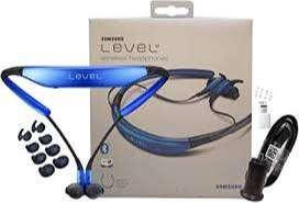 audifonos level u marca samsung, color negro azulado, inalambricos, bluetooth, microfono y bateria para 10 horas