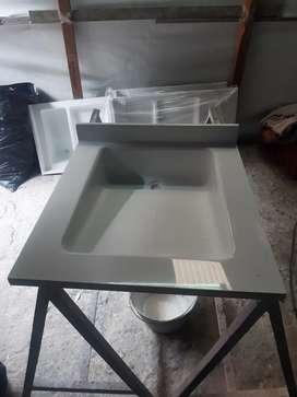Lavamanos en fibra de vidrio