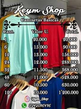 Camisetas Basicas Unisex 100% Algodon