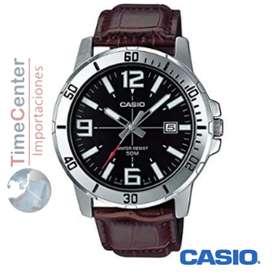 Reloj Casio Clasico Mtp-vd01l-1bv Cuero