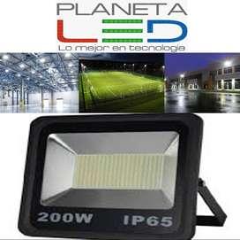 Reflector Led De 200w Alta Potencia Y Bajo Consumo Eléctrico luz blanca