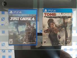 Juegos PS4 (Just Cause 4 y Tomb Rider)