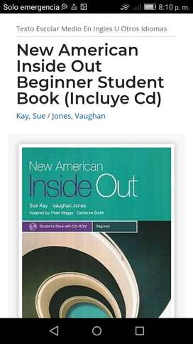 LIBRO INGLES NEW AMERICAN INSIDE OUT BEGINNER