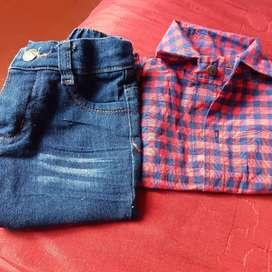 Vendo camisa y Jean de bebé