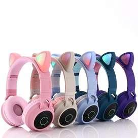 Audífonos Bluetooth orejas de gato