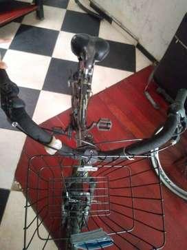 Bicicleta con cambios.
