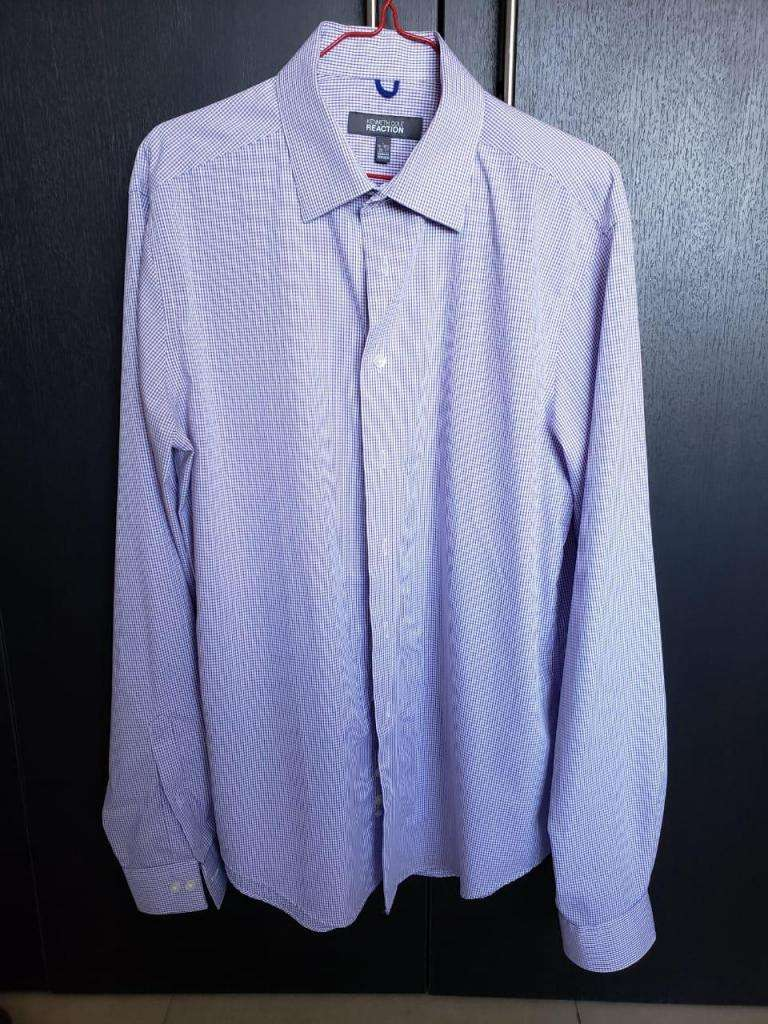 Camisa Hombre Kenneth Cole L 16 - 16 1/2, 36 - 37 Slim Fit 0