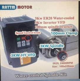 SPINDLE PARA ROUTER CNC 3.0 KW 220 VOLTS